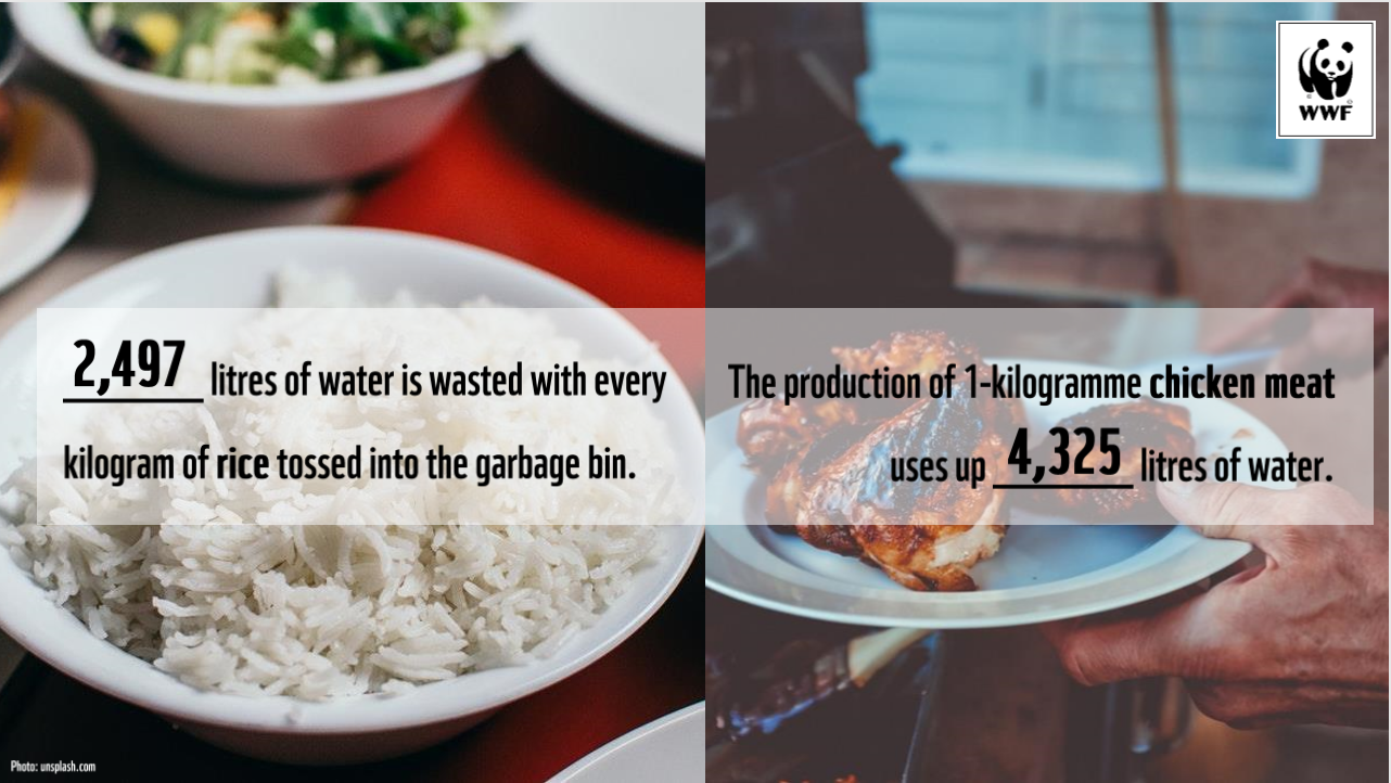 water consumption for food